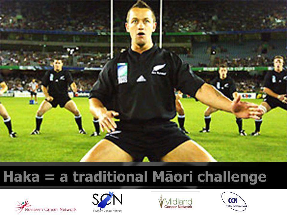 Haka = a traditional Māori challenge