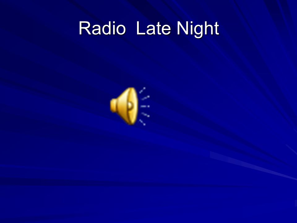 Radio Late Night