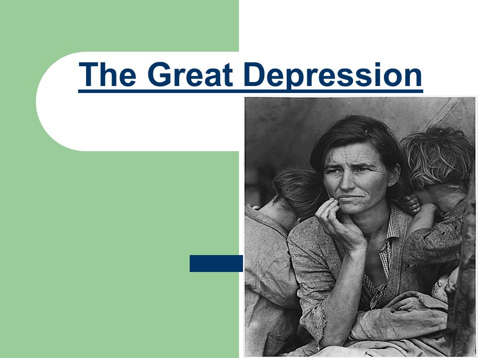 The Great Depression- 1929 to 1941 In 1928, Herbert Hoover is elected President