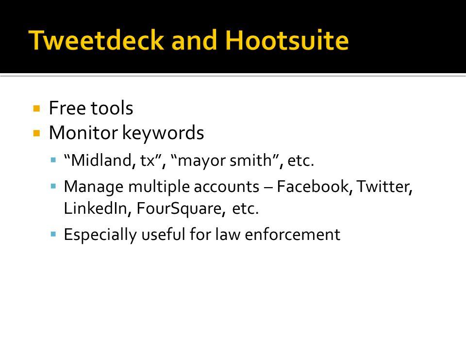  Free tools  Monitor keywords  Midland, tx , mayor smith , etc.