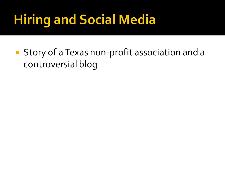  Story of a Texas non-profit association and a controversial blog