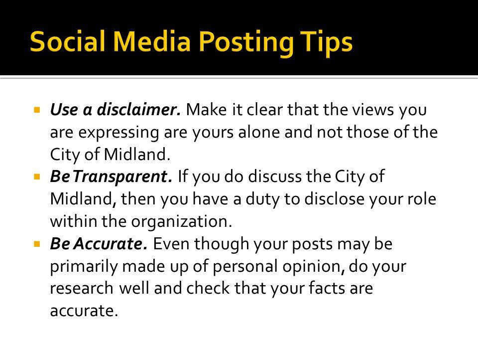  Use a disclaimer.