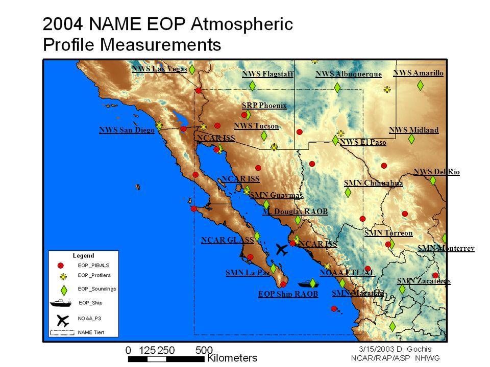 NCAR ISS NCAR GLASS NWS Tucson NWS El Paso NWS San Diego NWS Flagstaff SMN Chihuahua SMN Torreon SMN Guaymas SMN La Paz SMN Mazatlan NWS Midland NWS Del Rio M.