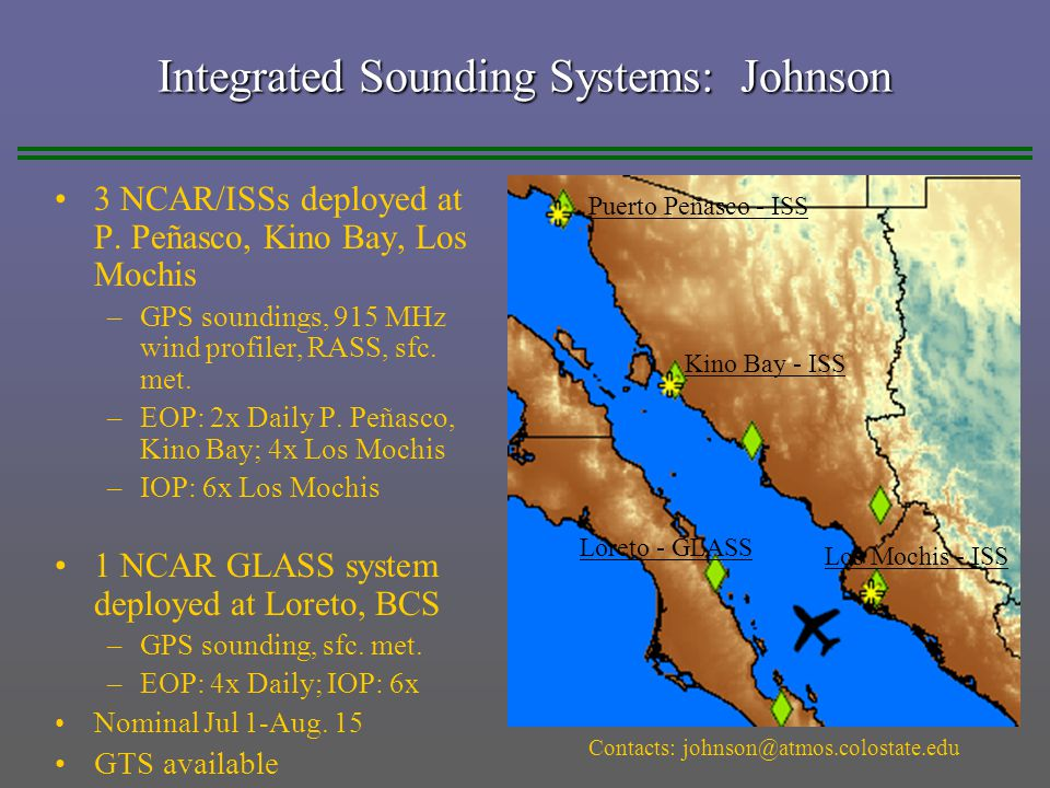 Integrated Sounding Systems: Johnson 3 NCAR/ISSs deployed at P.