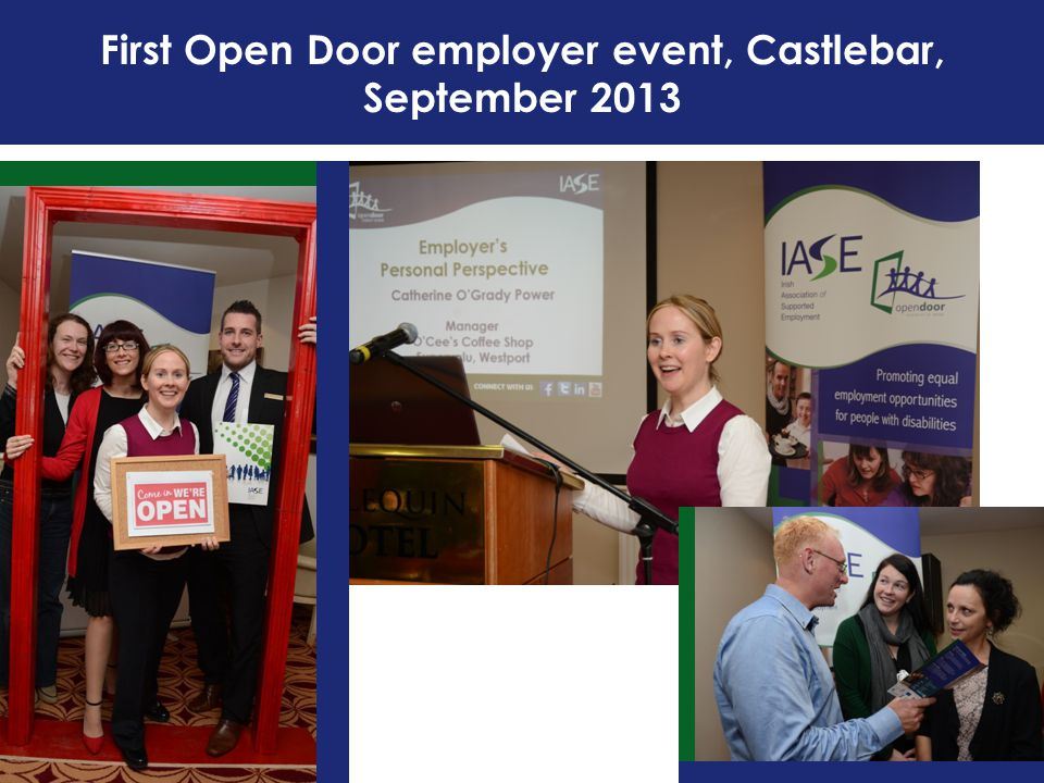 First Open Door employer event, Castlebar, September 2013