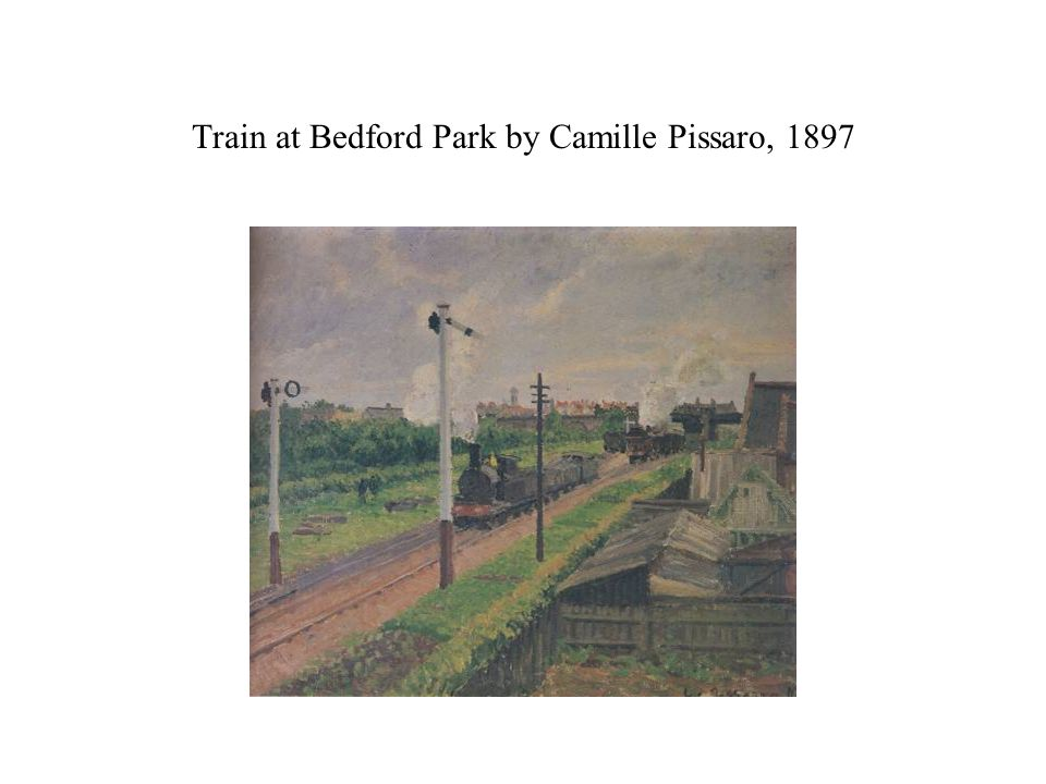 Train at Bedford Park by Camille Pissaro, 1897