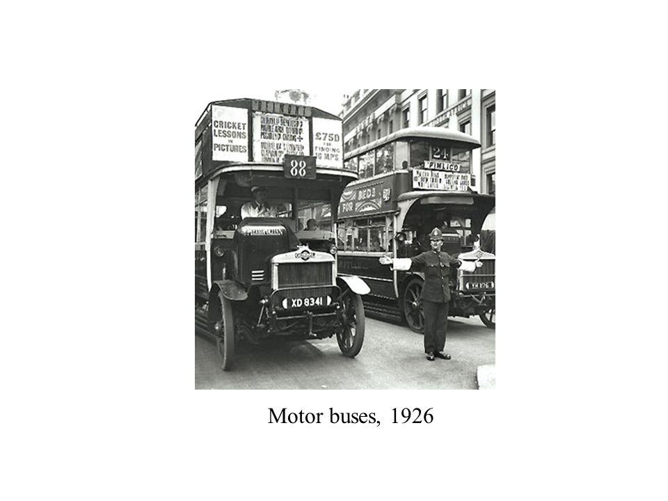 Motor buses, 1926