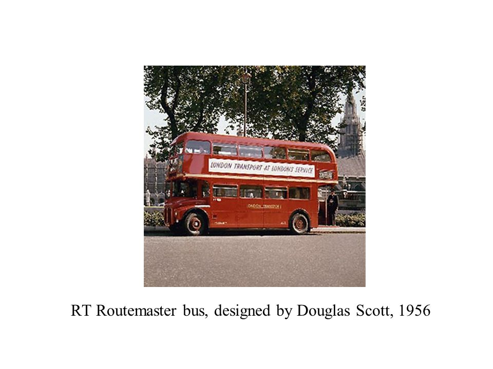 RT Routemaster bus, designed by Douglas Scott, 1956