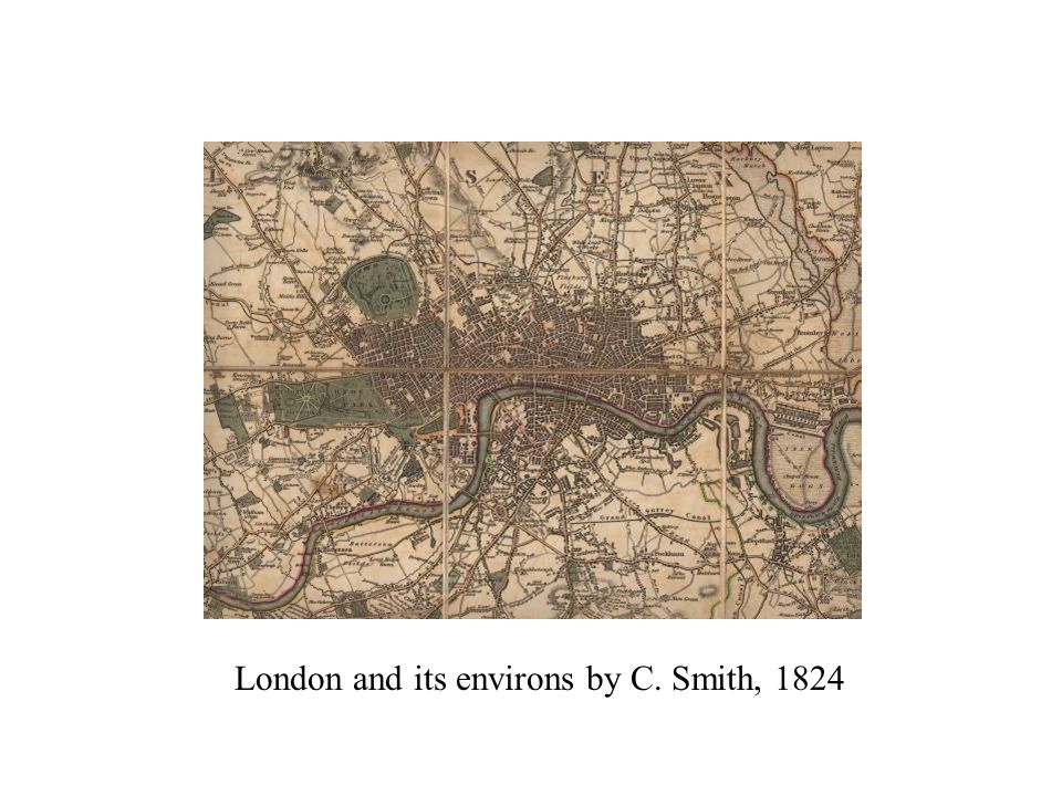 London and its environs by C. Smith, 1824