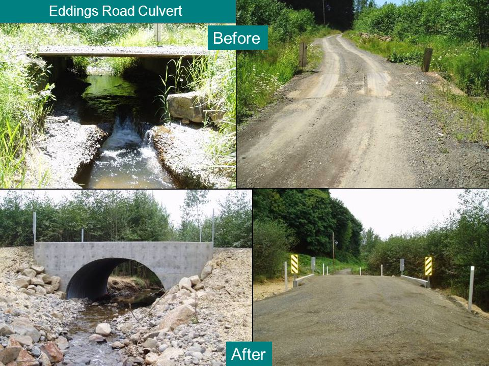 Eddings Road Culvert Before After