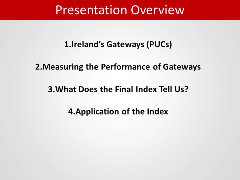 1. Ireland's Gateways