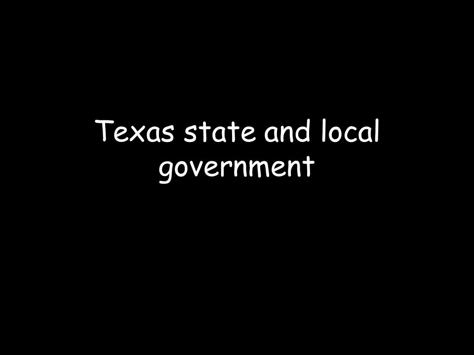 Texas state and local government