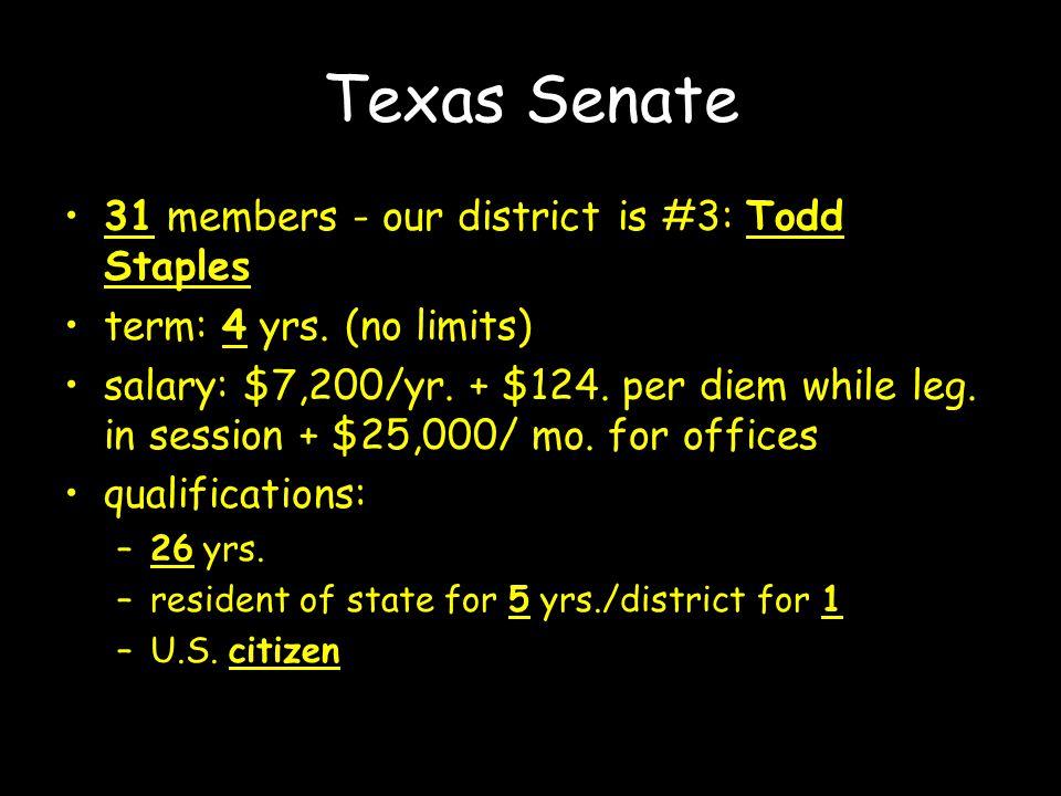 Our representatives: State representative Brandon Creighton State senator Robert Nichols