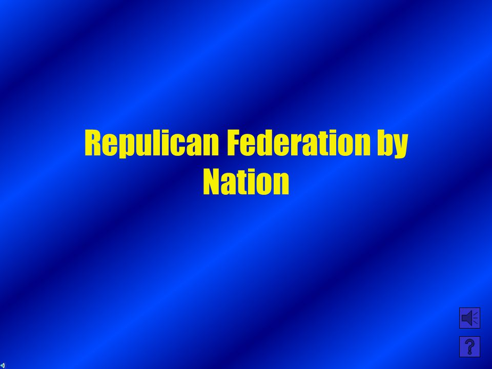 Democratic Federation by nation