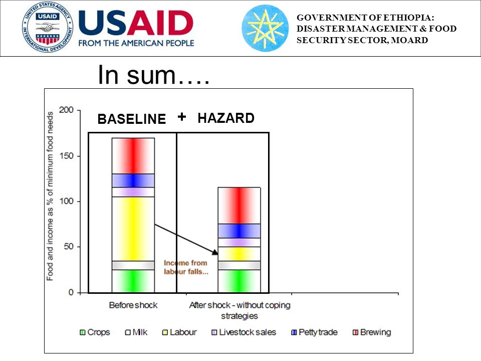 BASELINE HAZARD + In sum…. GOVERNMENT OF ETHIOPIA: DISASTER MANAGEMENT & FOOD SECURITY SECTOR, MOARD