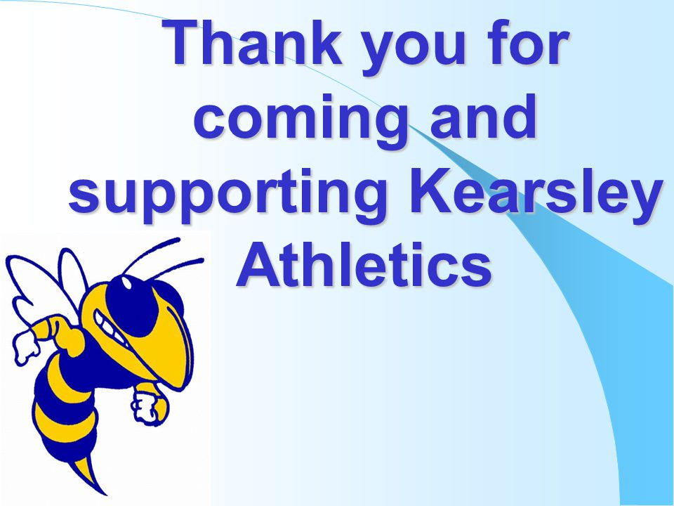 Thank you for coming and supporting Kearsley Athletics