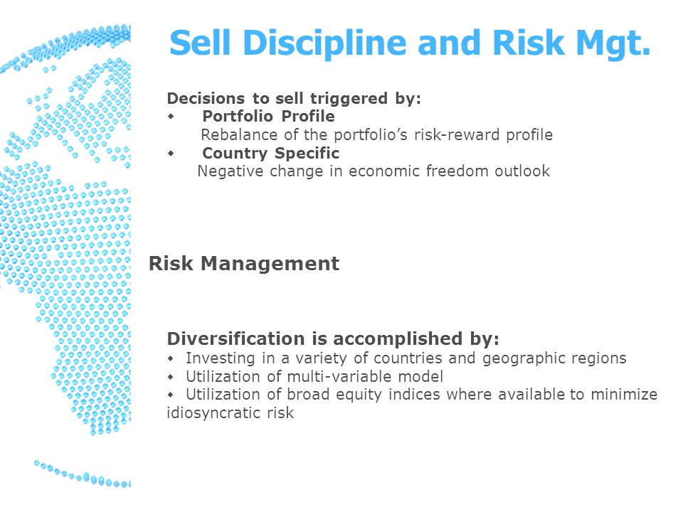 Sell Discipline and Risk Mgt.
