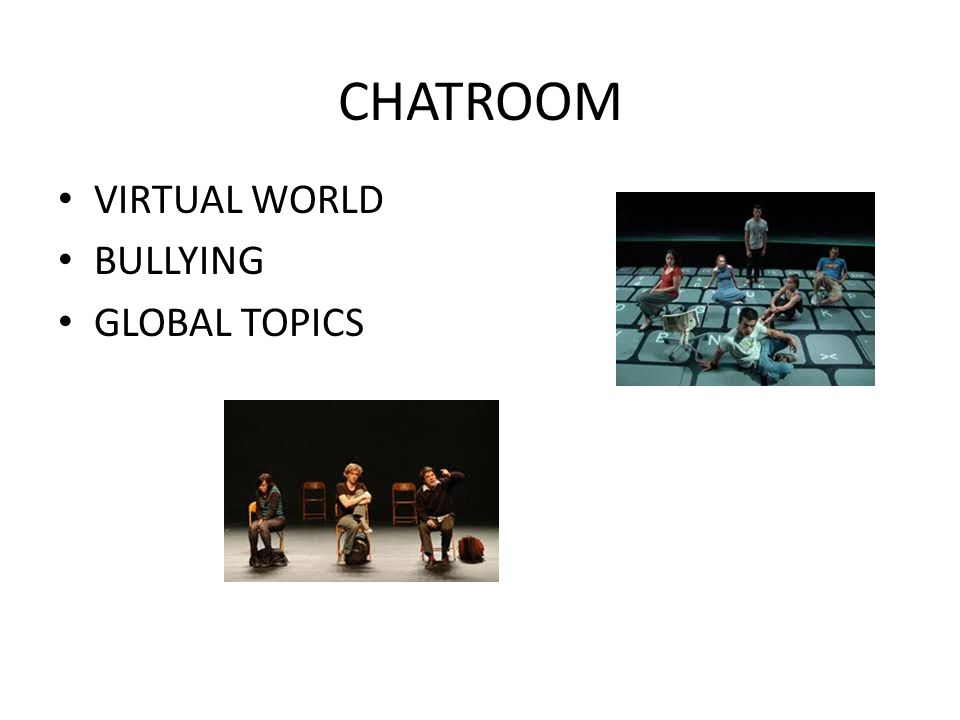 CHATROOM VIRTUAL WORLD BULLYING GLOBAL TOPICS