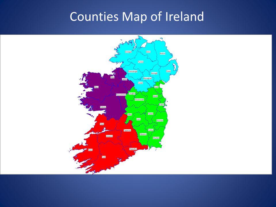 Counties Map of Ireland