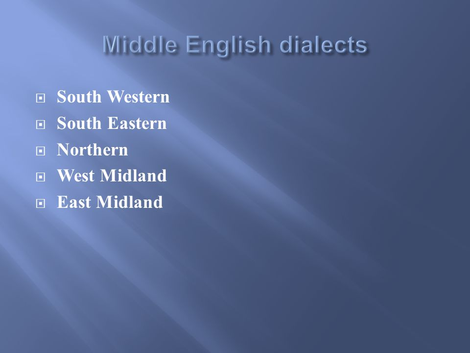  South Western  South Eastern  Northern  West Midland  East Midland
