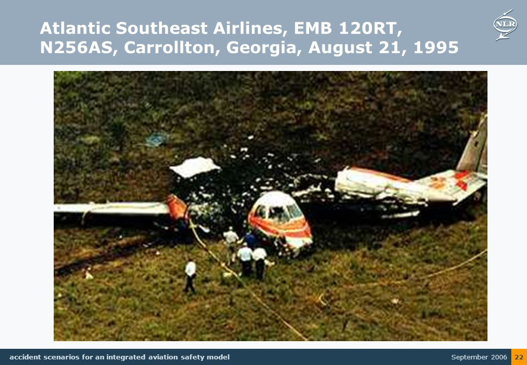 September 2006 accident scenarios for an integrated aviation safety model 22 Atlantic Southeast Airlines, EMB 120RT, N256AS, Carrollton, Georgia, August 21, 1995