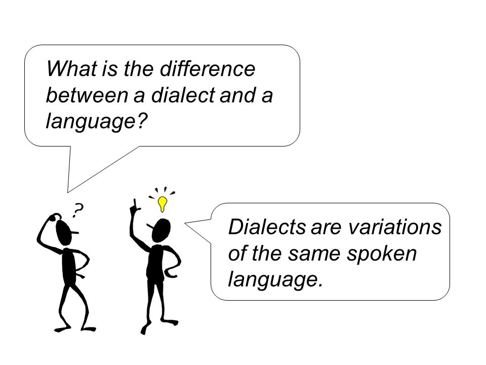 What is the difference between a dialect and a language.