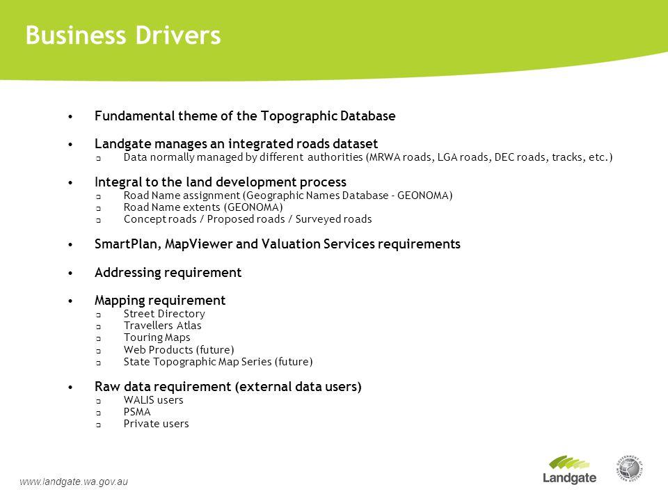 Shared Data Maintenance – Virtual Desktop www.landgate.wa.gov.au Master Database