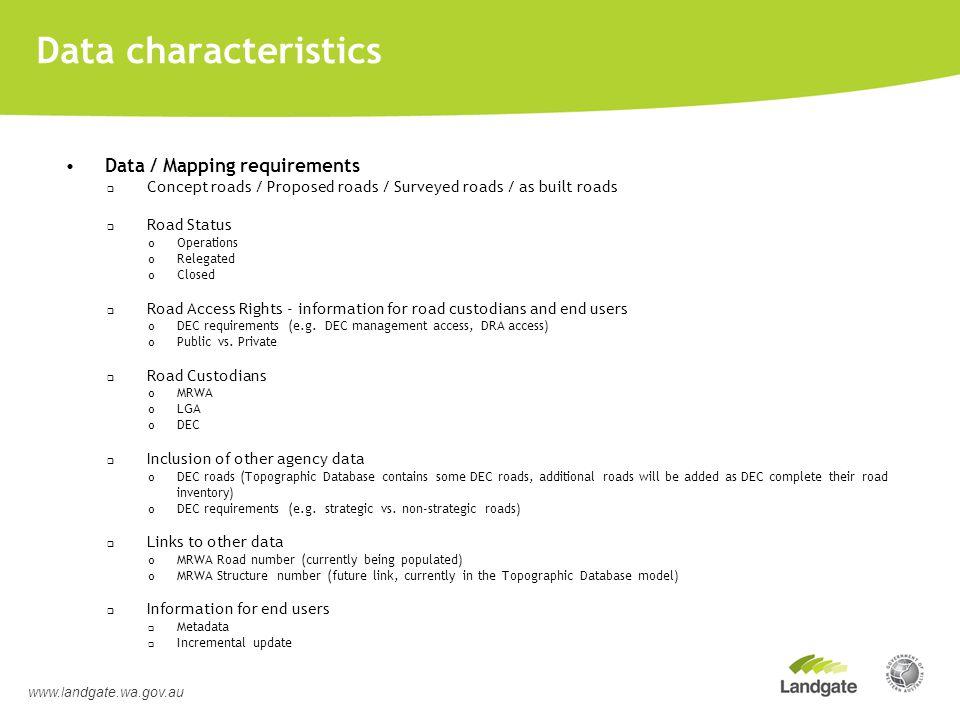 Routable Road Centreline Network Requirements www.landgate.wa.gov.au