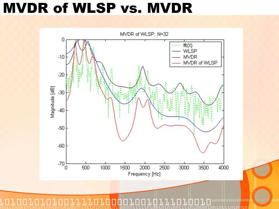 MVDR of WLSP vs. MVDR