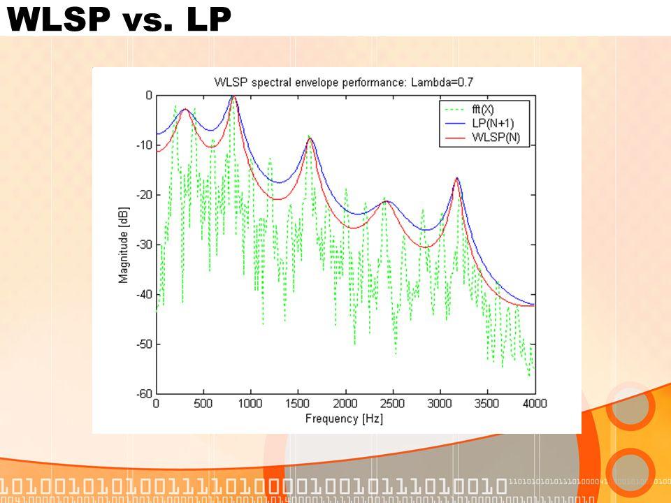 WLSP vs. LP