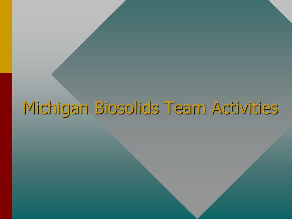 Michigan Biosolids Team Activities