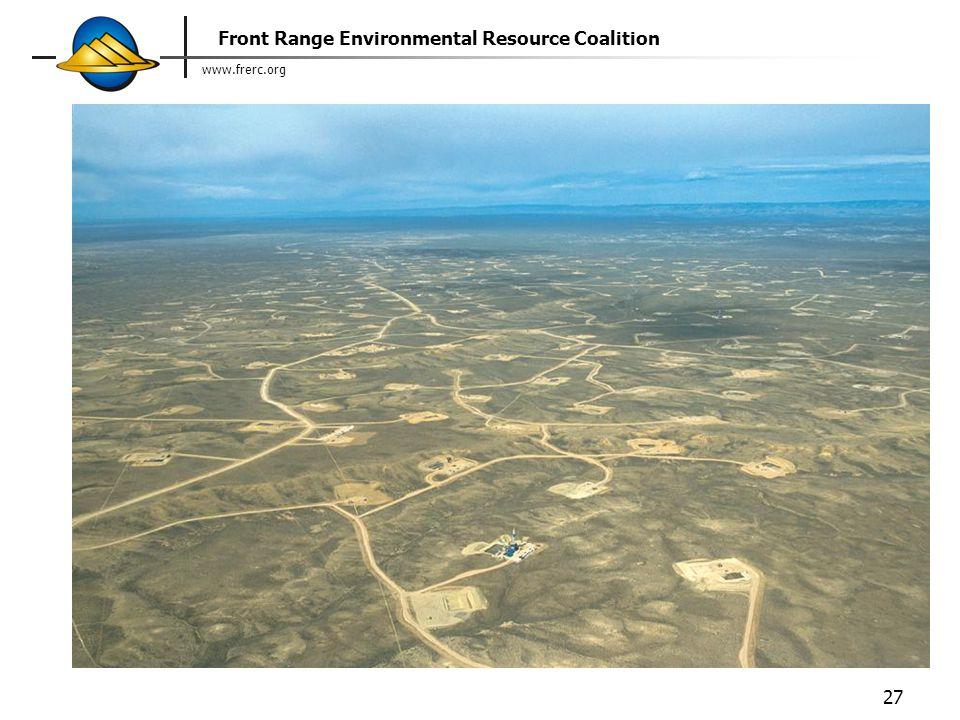 www.frerc.org Front Range Environmental Resource Coalition 27