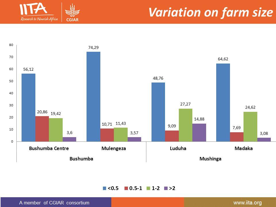 Variation on farm size