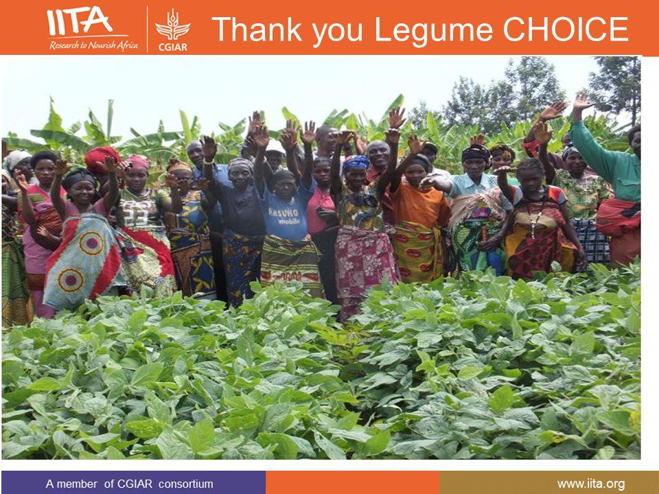 Thank you Legume CHOICE
