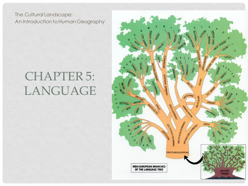 CHAPTER 5: LANGUAGE The Cultural Landscape: An Introduction to Human Geography