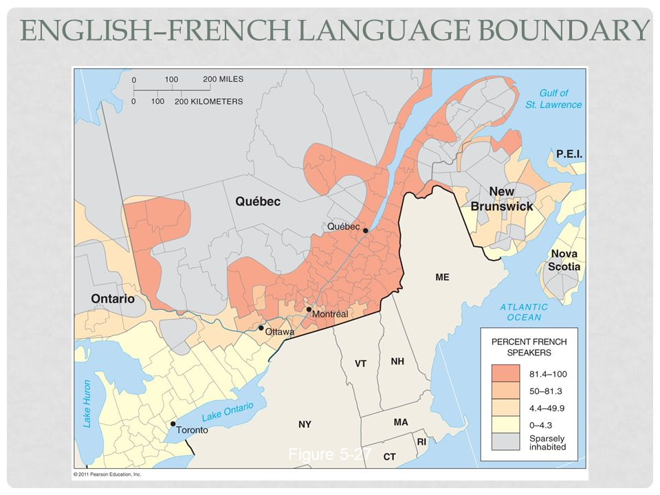 ENGLISH–FRENCH LANGUAGE BOUNDARY Figure 5-27