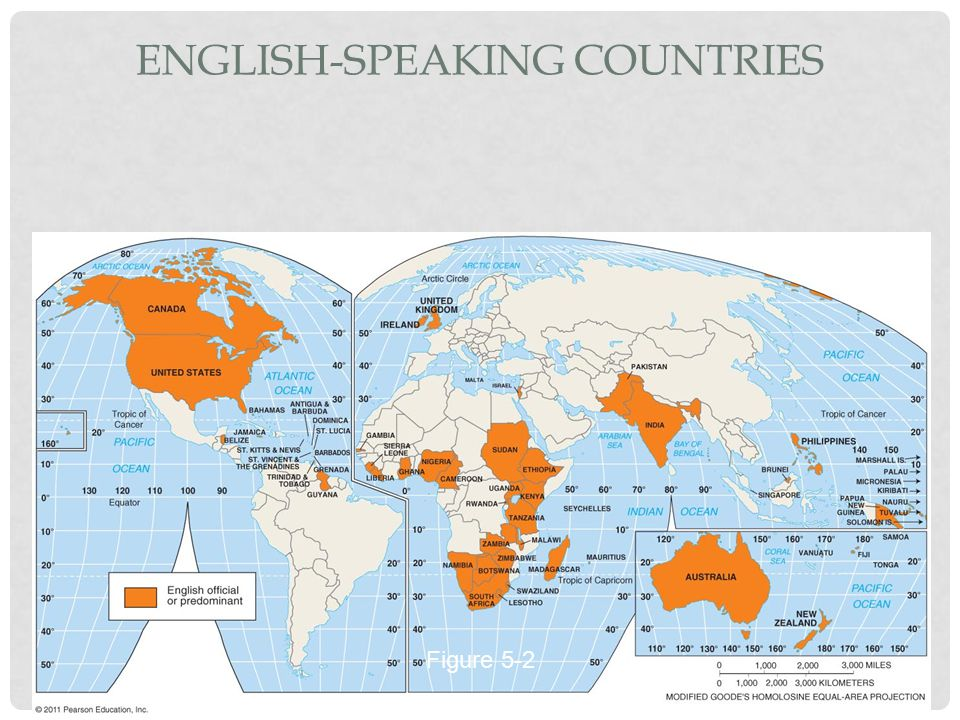 ENGLISH-SPEAKING COUNTRIES Figure 5-2