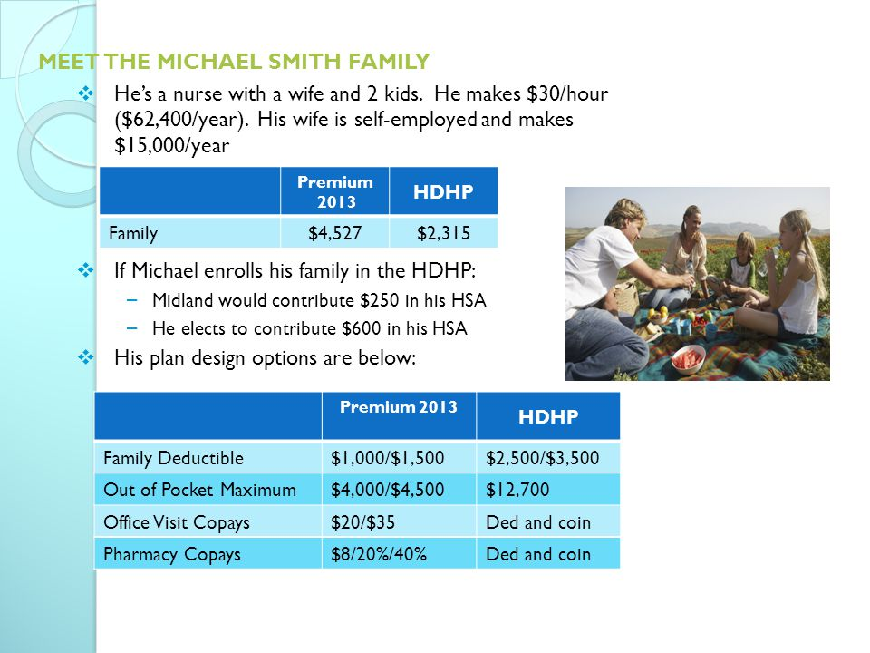 MEET THE MICHAEL SMITH FAMILY  He's a nurse with a wife and 2 kids.
