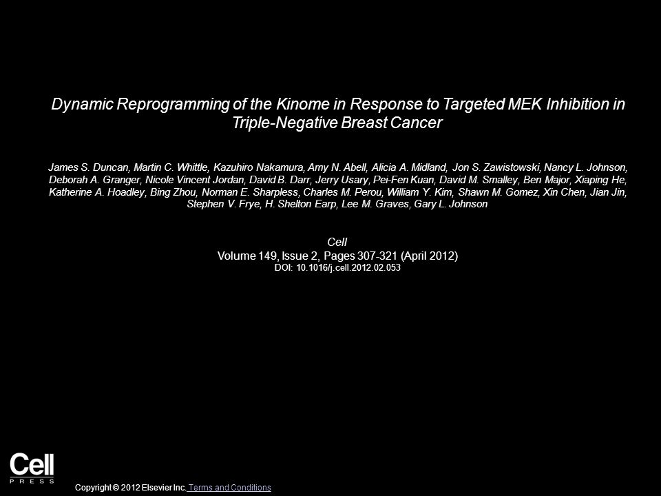 Dynamic Reprogramming of the Kinome in Response to Targeted MEK Inhibition in Triple-Negative Breast Cancer James S.