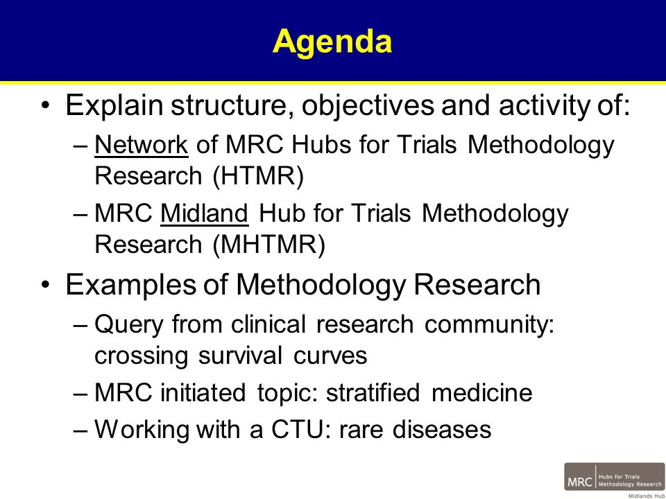 Core Outcome Measures in Effectiveness Trials (COMET) Database of Resource-Use Data Collection Instruments for Trial-based Health Economic Evaluations (DIRUM) Methodology for Trials of Radiotherapy Interventions CONSORT Extension on Quality of Life Reporting Standards Research Exchange Visits for Improving Multi-Arm, Multi- Stage Clinical Trials Trial Monitoring – Towards Best Practice Central Statistical Monitoring IPD Meta-analysis Guidelines for Reporting Biases HTMR Funded Collaborative Methodological Research