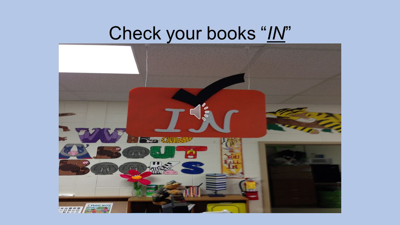 1 st Make sure you have your library card and a pass! Sign in – your name and teacher's name Take a shelf marker from the bucket. THEN………