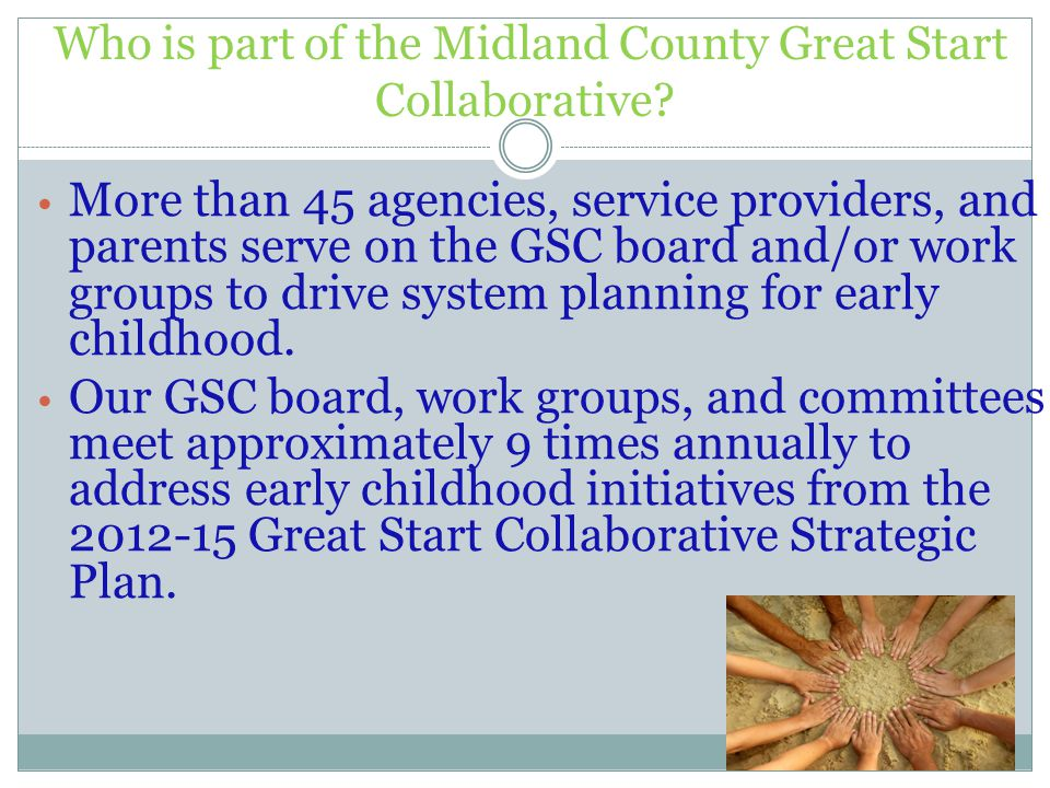 Who is part of the Midland County Great Start Collaborative.