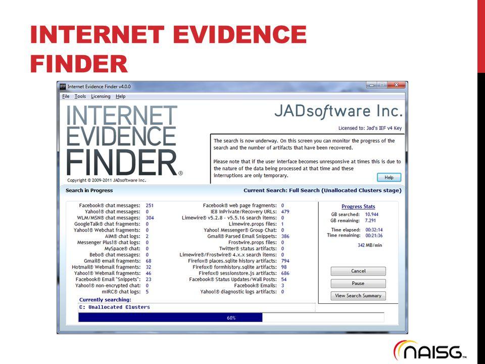 INTERNET EVIDENCE FINDER