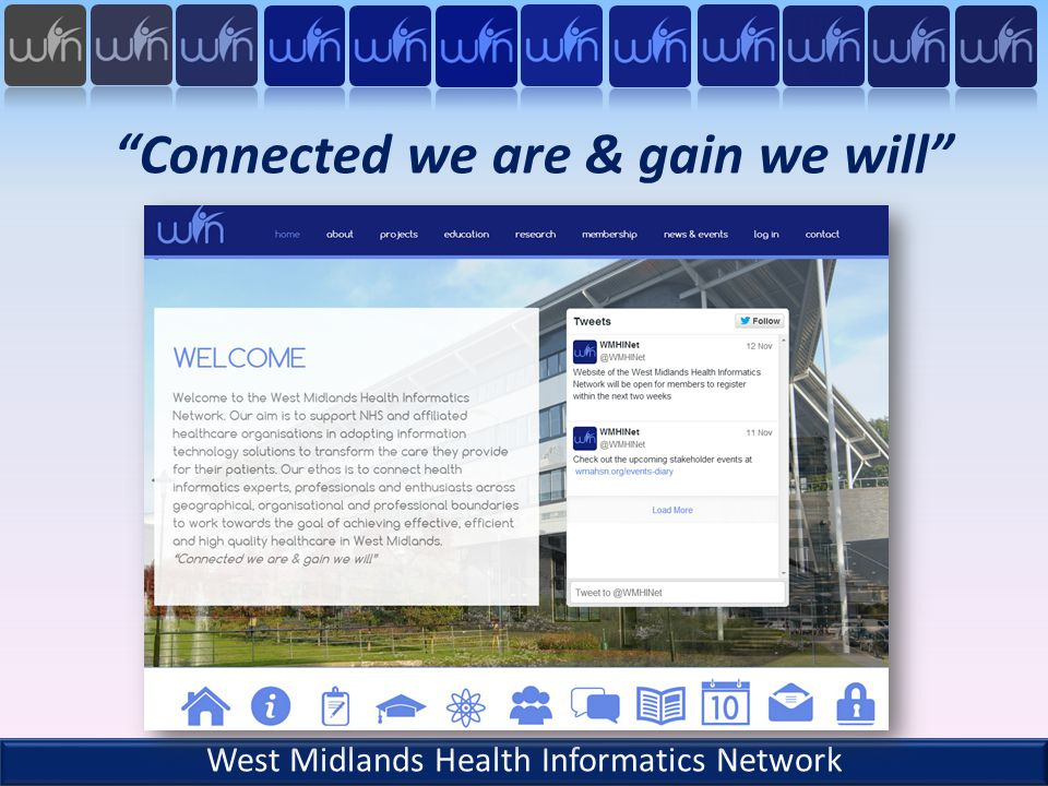 Connected we are & gain we will West Midlands Health Informatics Network