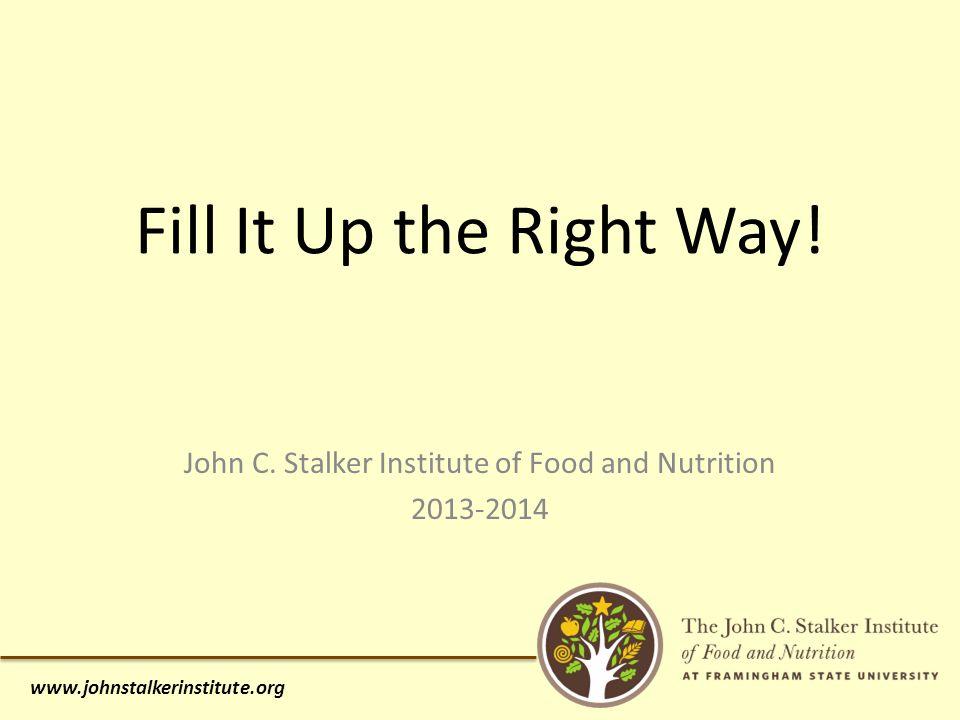 www.johnstalkerinstitute.org John C.