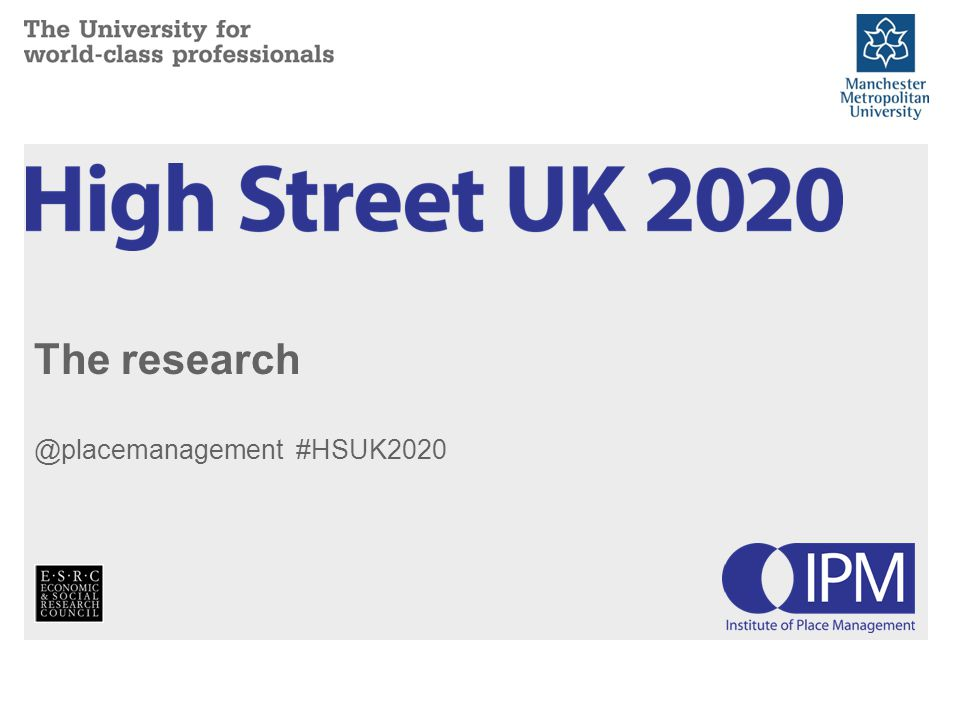 The research @placemanagement #HSUK2020