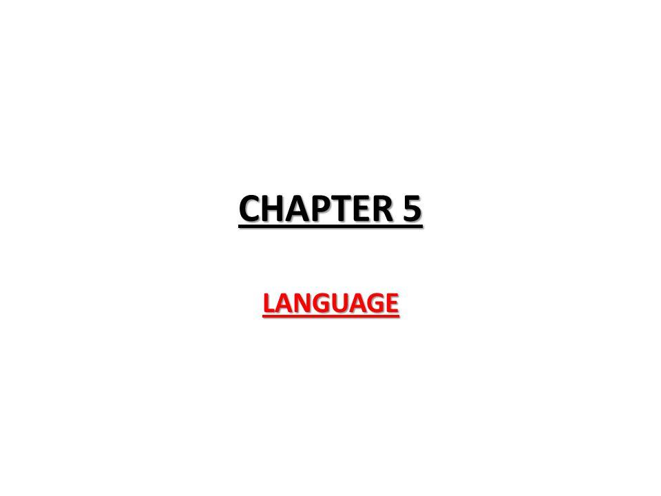 CHAPTER 5 LANGUAGE