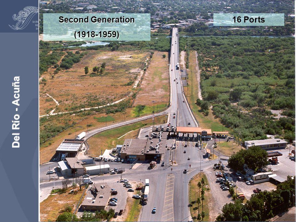 Second Generation (1918-1959) 16 Ports Del Río - Acuña