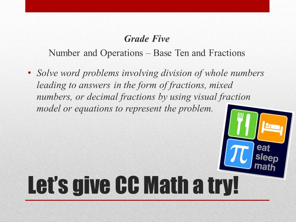 Let's give CC Math a try.