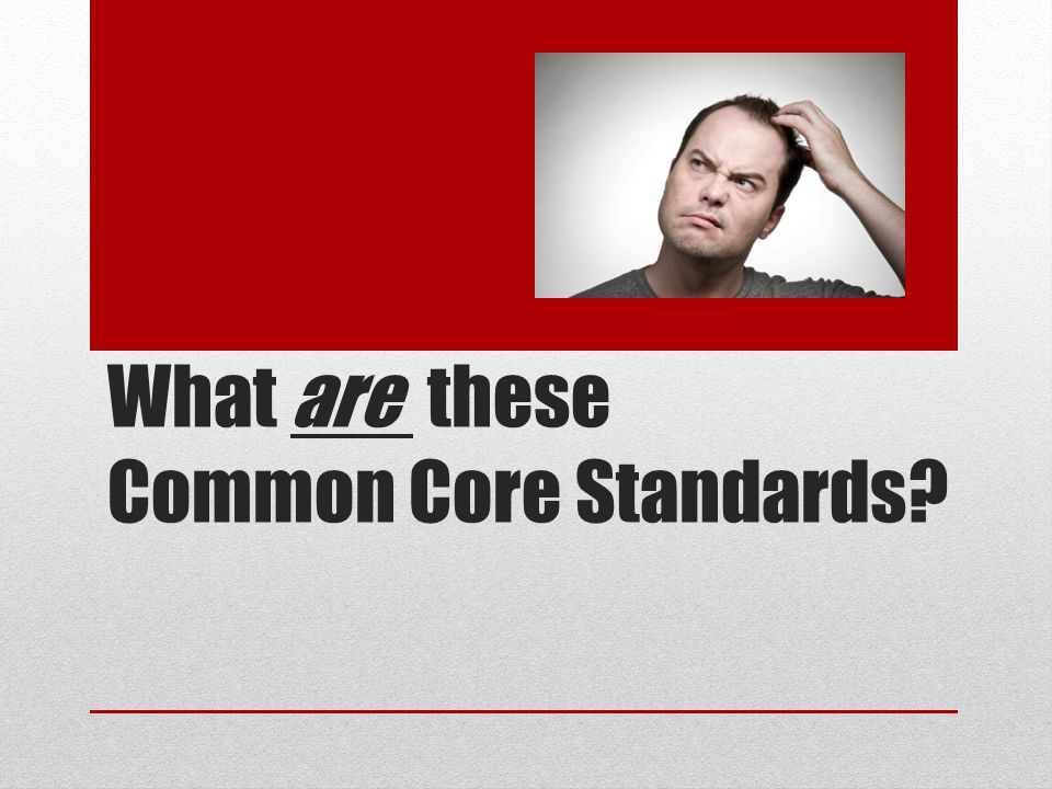 What are these Common Core Standards
